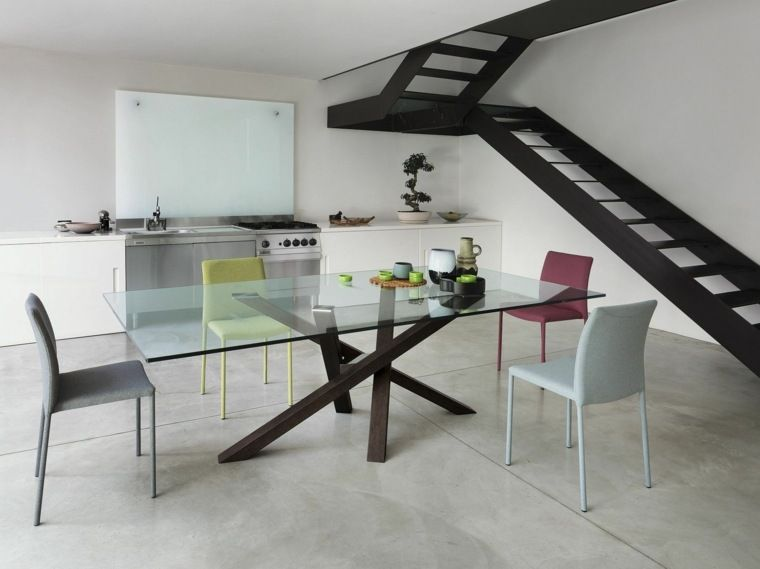 Contemporary Glass Table 24 Ideas Of Deco Design Glass Dining Table Glass Dining Room Table Glass Dinning Table