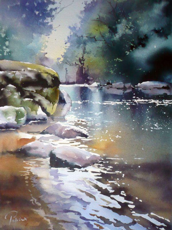 The Triad Tree Arbres En Aquarelle Peinture Et Peinture Dessin
