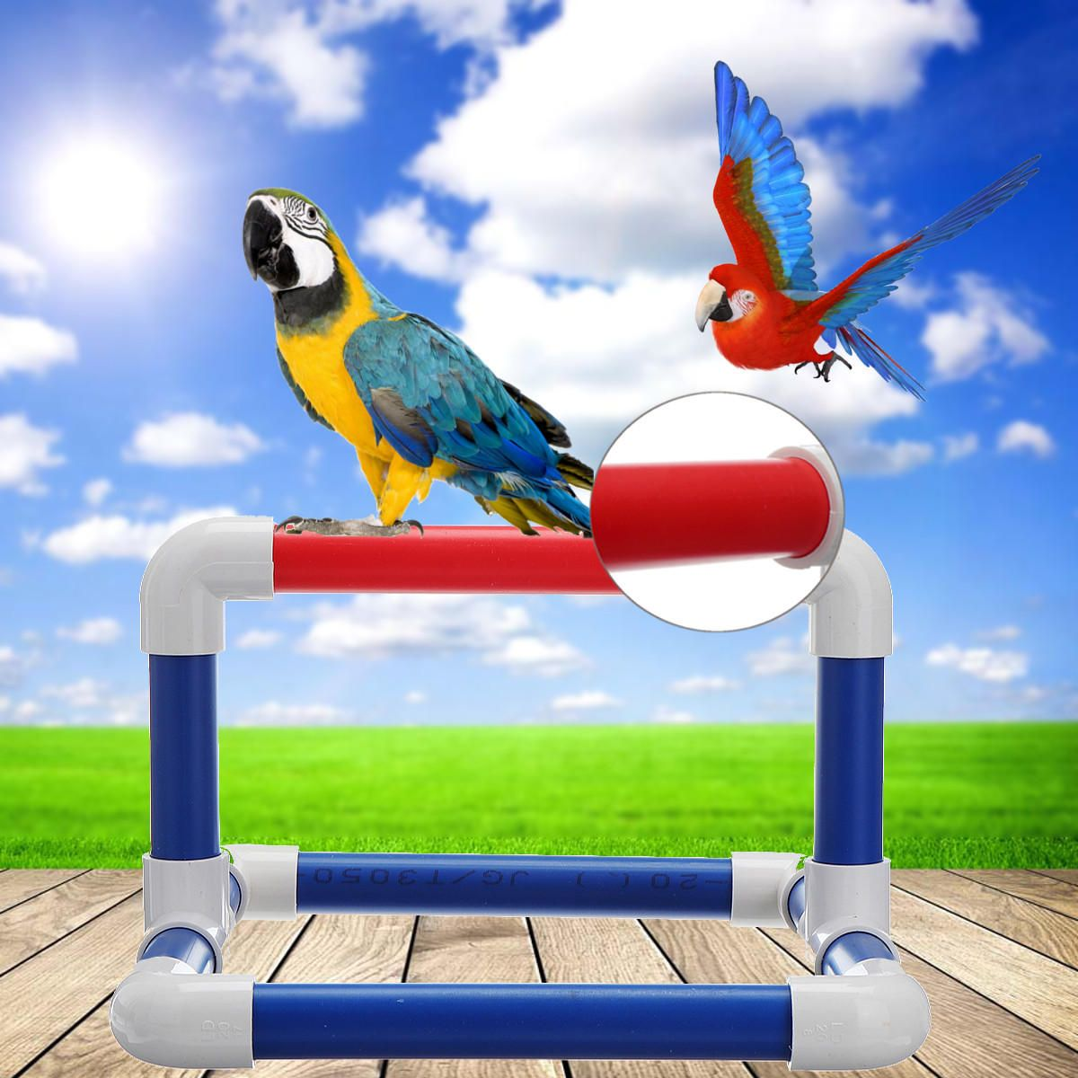 Large Pvc Parrot Perch Play Gym Stand Birds Training Playing Platform Tray Tablet Stand Parrot Perch Bird Stand Play Gym