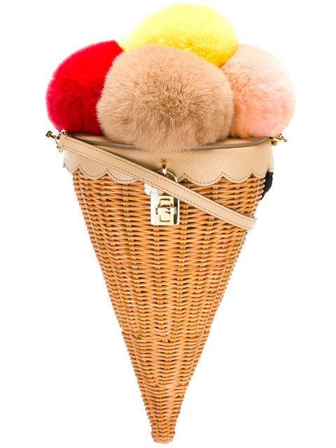 Dolce & Gabbana bolso de hombro con forma de helado.