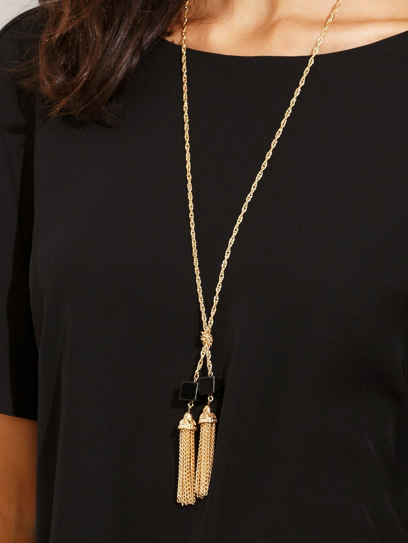c98bb75dca07 Collar largo de cadena con piedra-(Sheinside)
