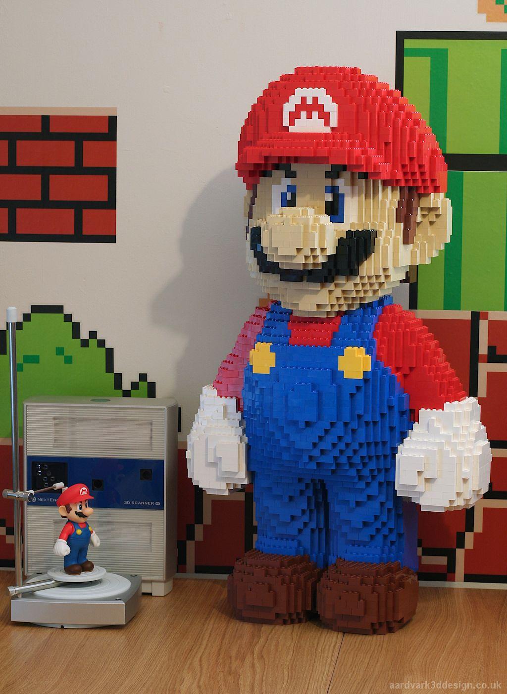 Awesome Lego Mario Model Built Using Nextengine 3d Scanner Lego