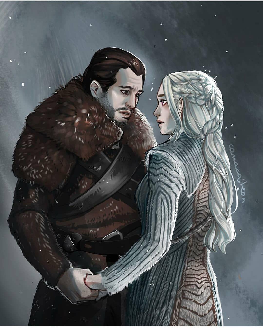 Artwork By Camacaileon Daenerystargaryen Jonsnow Aegontargaryen Jonerys Kitharringt Daenerys And Jon A Song Of Ice And Fire Jon Snow And Daenerys