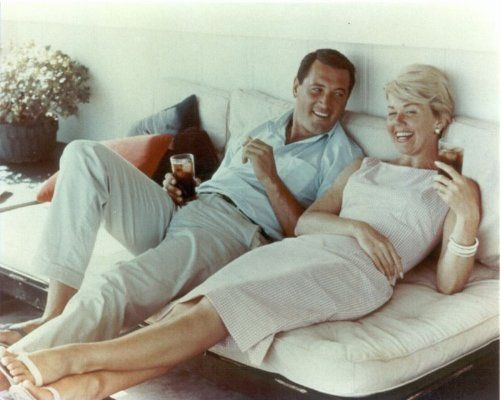 Rock Hudson and Doris Day ~ After Rock Hudson died of AIDS in 1985, Day told the press that she had never known he was a homosexual.