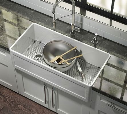 Astonishing Undermount Reversible Apron Front Fire Clay Sink Also Home Interior And Landscaping Palasignezvosmurscom
