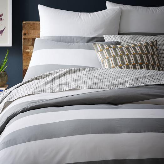 Mod Stripe Duvet Cover Shams Striped Duvet Covers Modern Duvet Covers Grey And White Striped Bedding