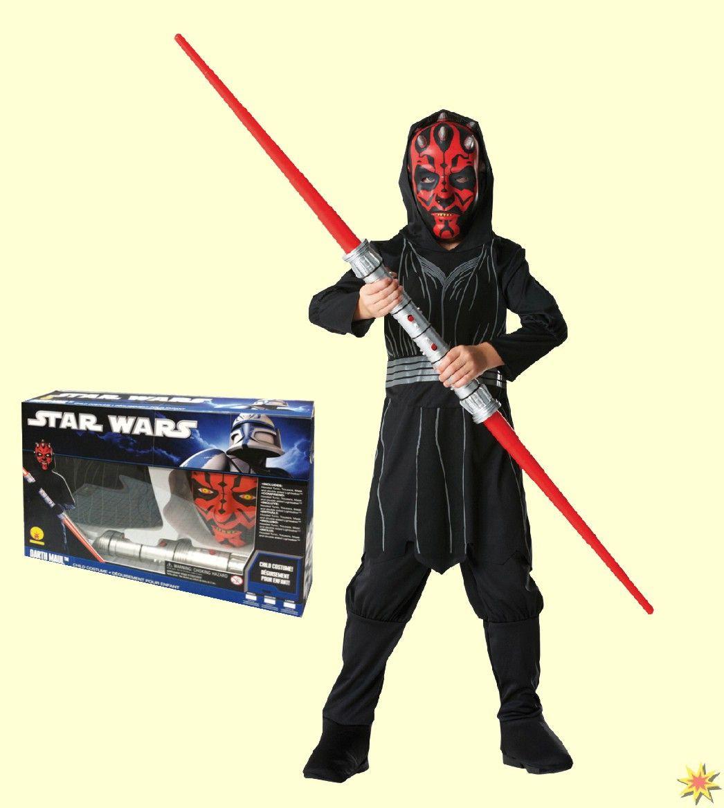 Kostüm Darth Maul Boxset, Star Wars, Gr Karneval, Fasching Kinder-Kostüme