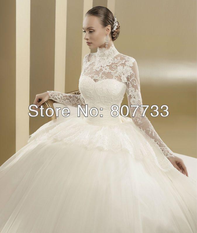 Vintage Lace Ball Gown Wedding Dresses Wedding Concepts hip6L75M ...
