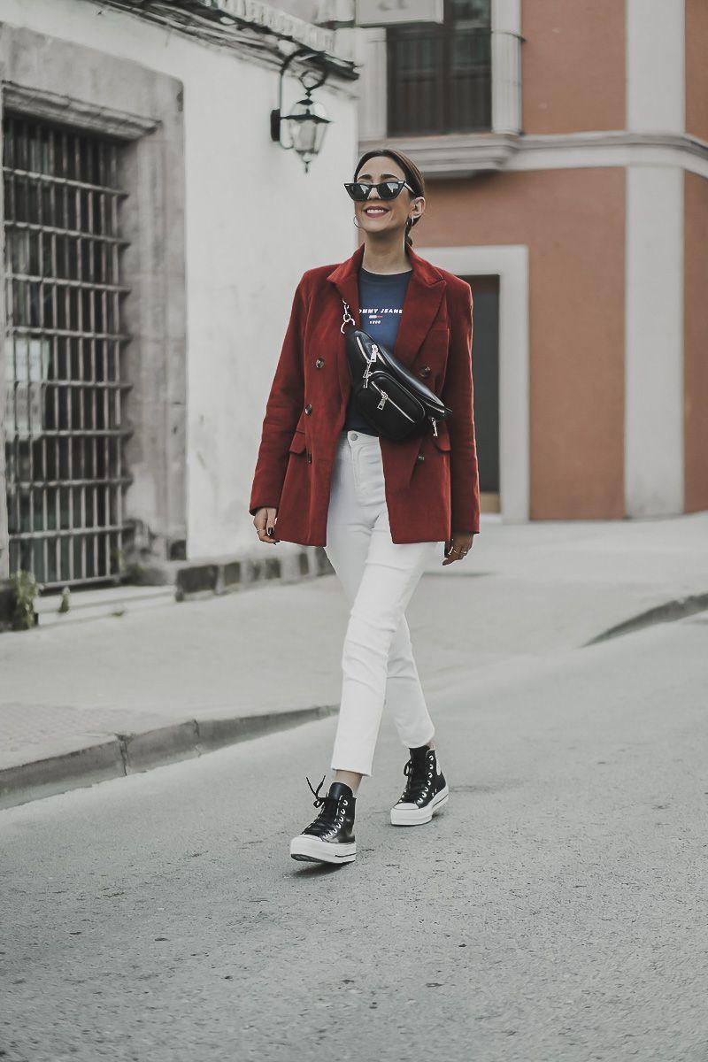 converse plataforma leather