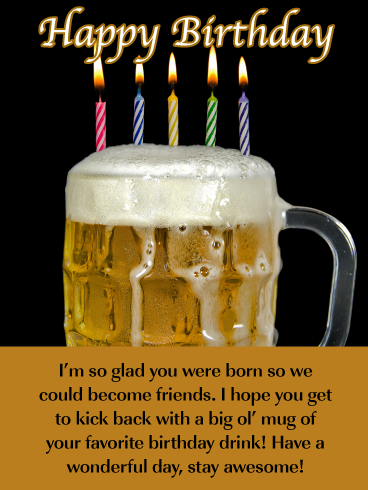 Beer greeting cards with friends