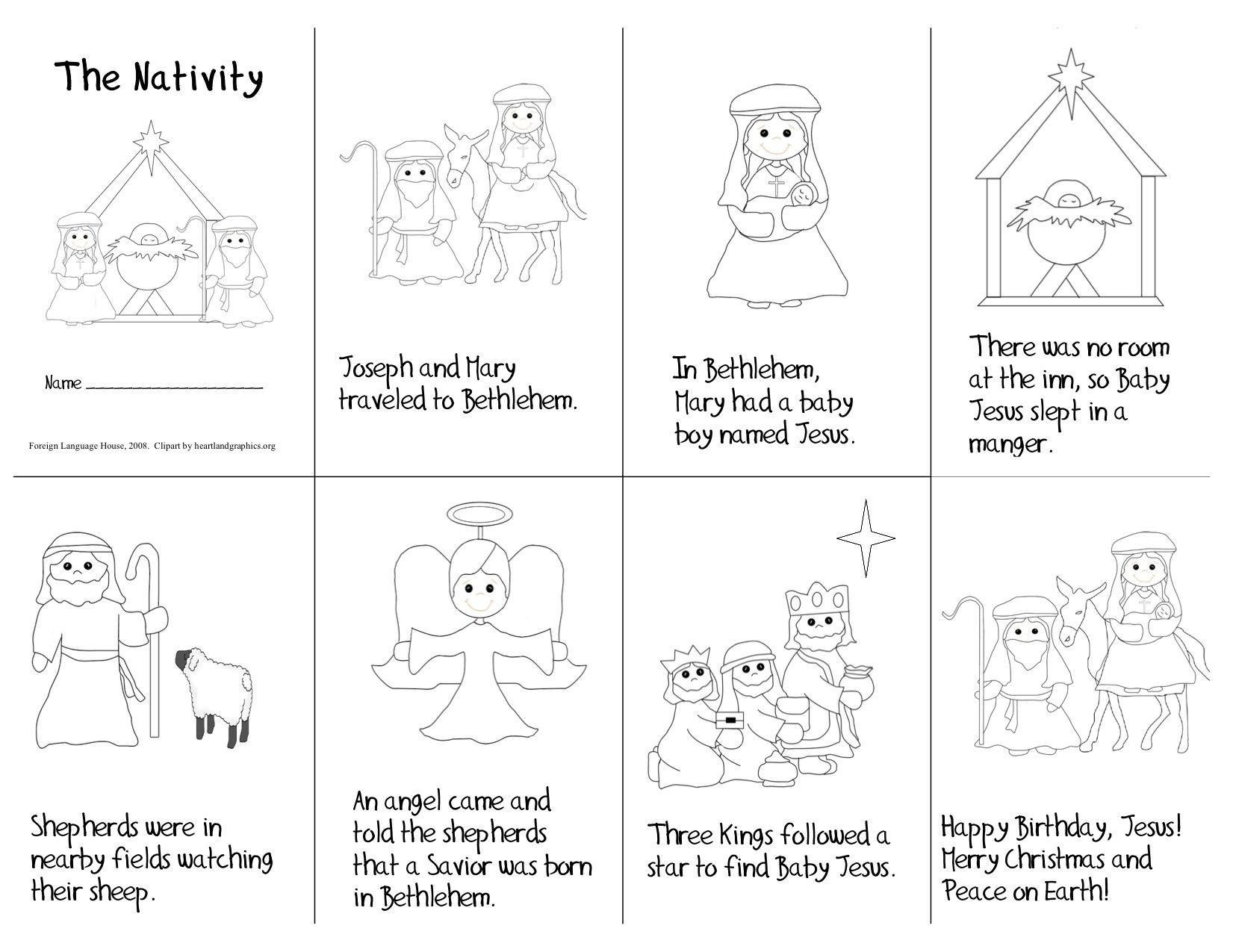 Nativity Printable Mini Book