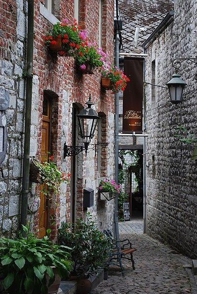 Rue des Récollets, Durbuy, Belgium.