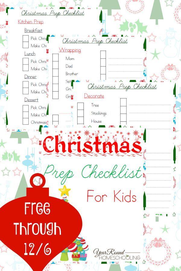 Christmas Prep Checklist for Kids Homeschool, Homeschool blogs and