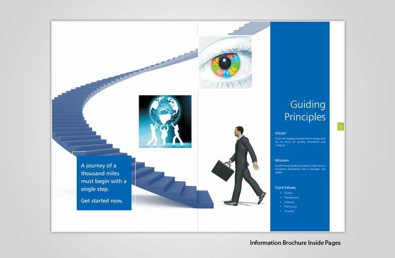 brochure design for training institute - educational industry brochure design for institute excel