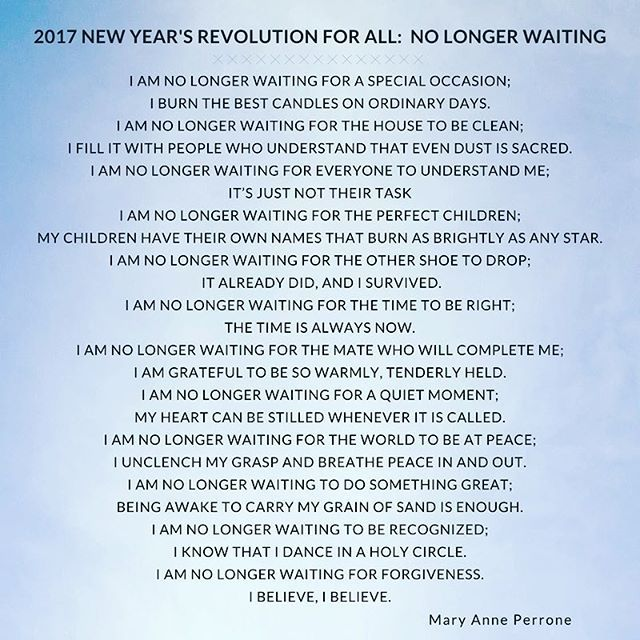 Let Us Make A Collective 2017 New Year's Revolution: No