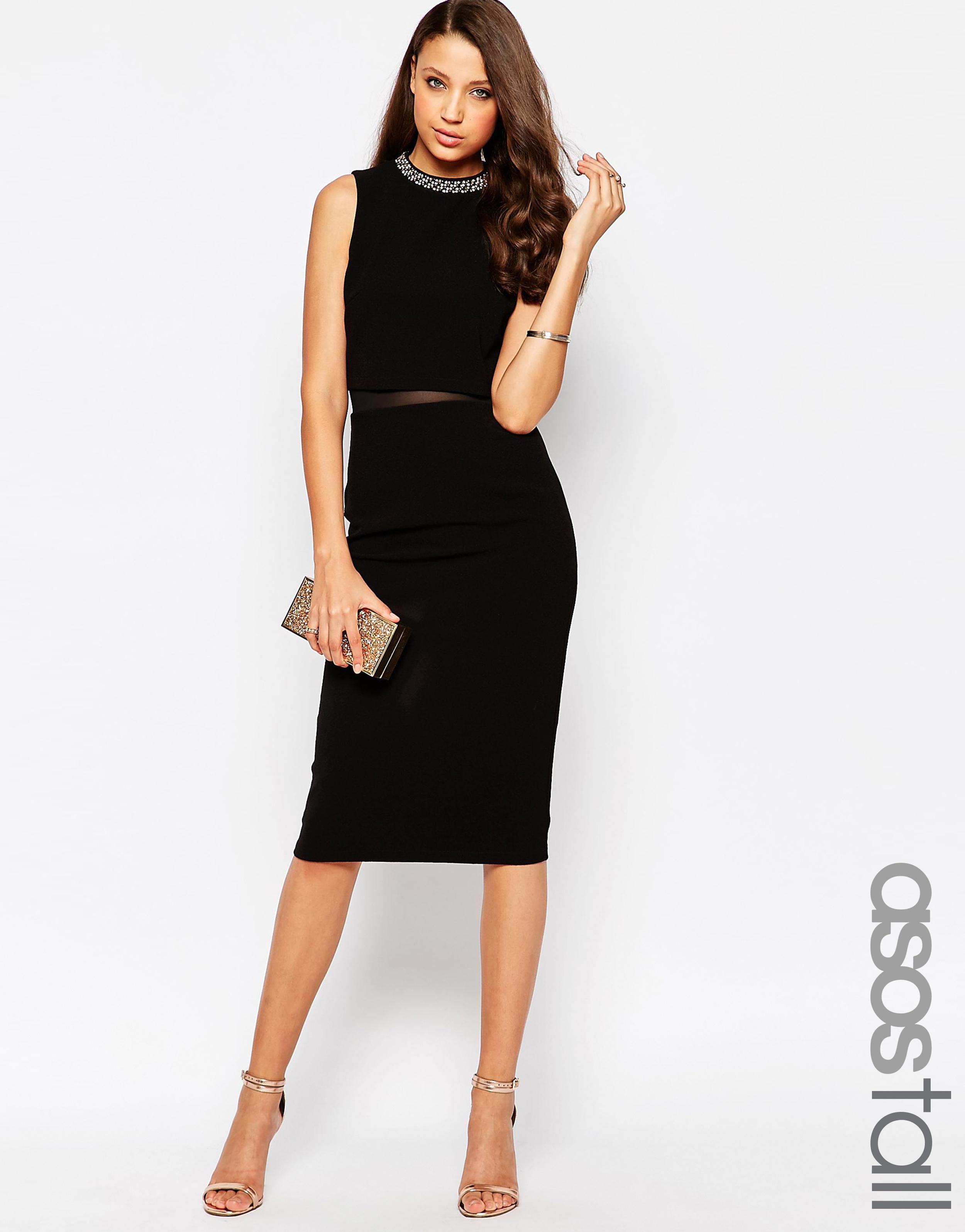 44d3d069796a us.asos.com ---- asos-tall-embellished-stand-collar-midi-dress ---- Candice  Blackburn ----