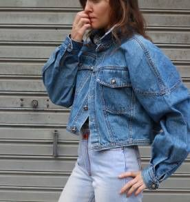 Jaqueta Jeans Vintage Anos 80 90 Retrô Roupas Anos 80