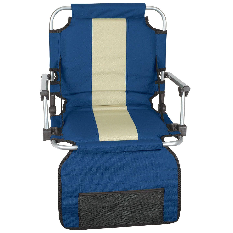 Portable Folding Stadium Seat Back Arm Chair Cushion