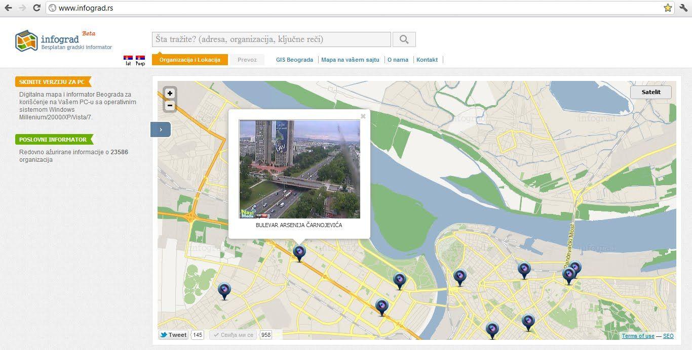 www mapa beograda rs Mapa Beograd: http://.infograd.rs/ | 3D interaktivna mapa  www mapa beograda rs