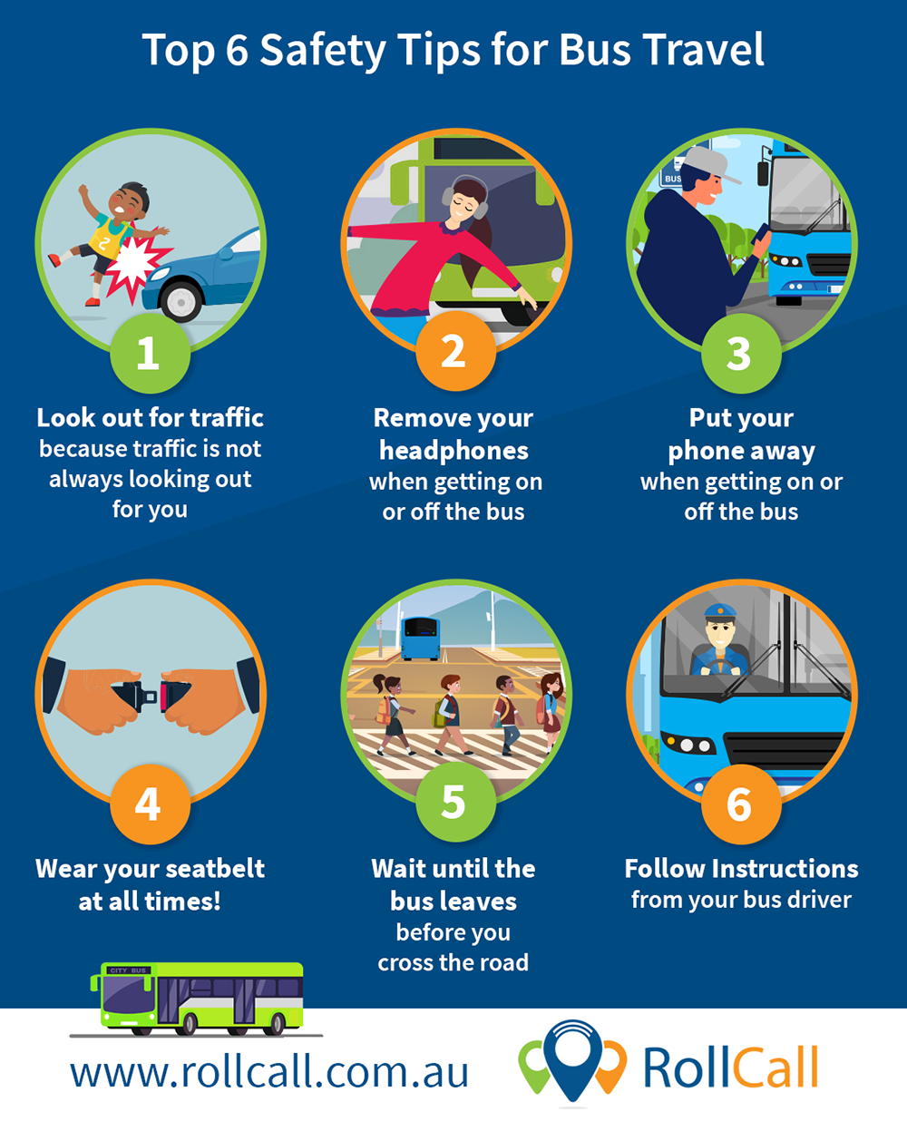 Top 6 Safety Tips for Bus Travel School bus safety