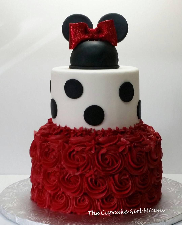 Red Minnie Minnie Mouse Birthday Cakes Mickey And Minnie Cake Minnie Cake