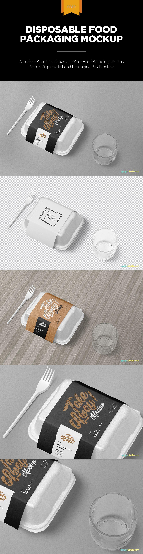 Download Free Disposable Food Packaging Mockup Zippypixels Free Packaging Mockup Packaging Mockup Packaging