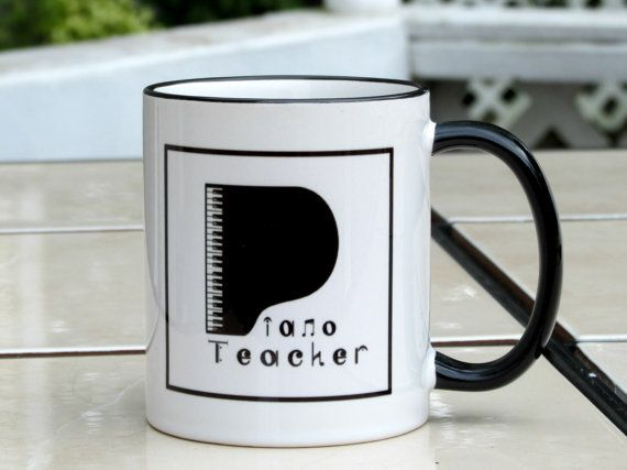 Mug/Cup/Piano Teacher/Church Pianist/Musician by MusicArtandMore