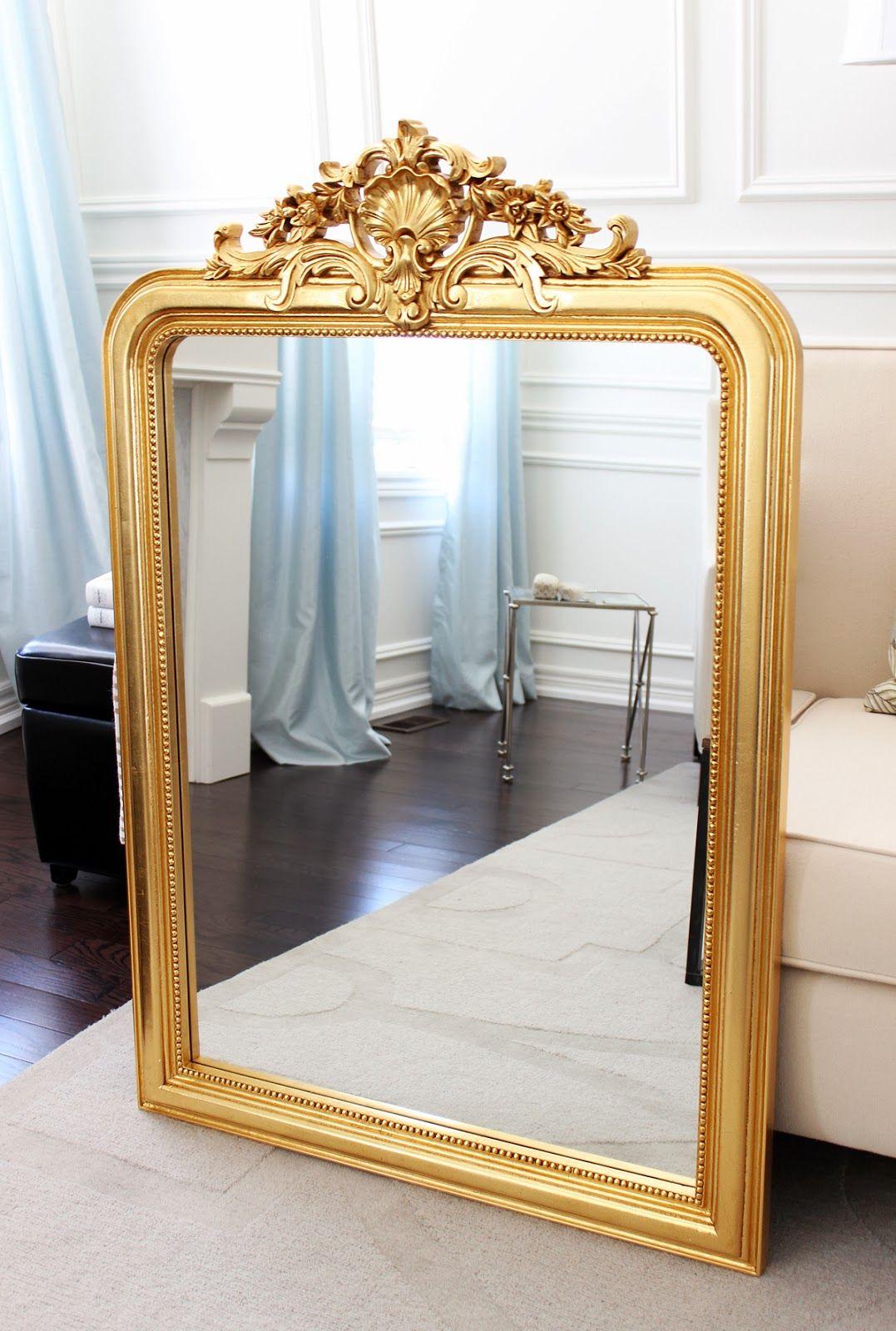 Antique Reproduction Louis Philippe Gilt Mirror Antique