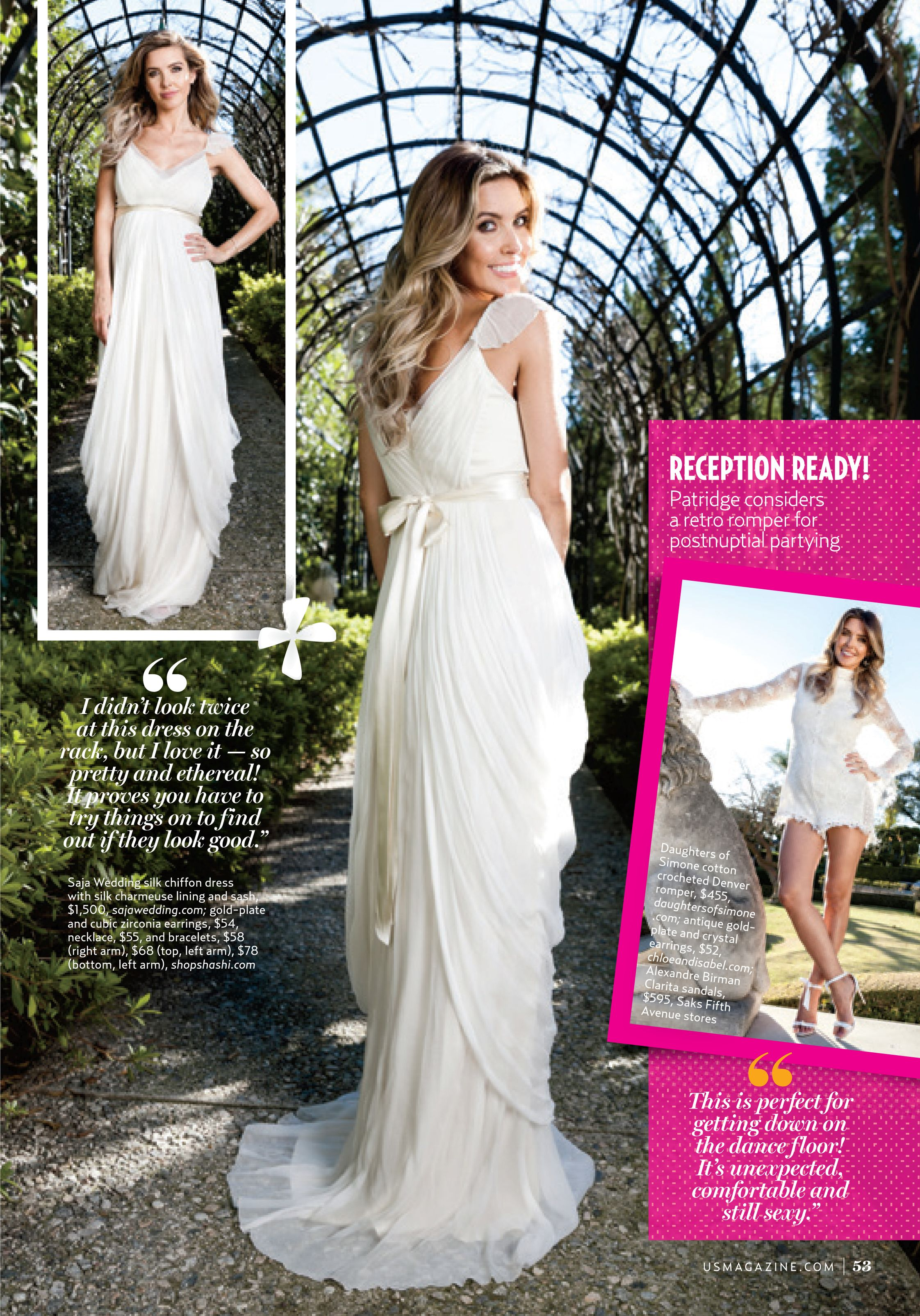 0301362d So excited to see the beautiful Audrina Patridge wearing our HB6365 gown in  this issue of Us Weekly!! # WeddingWednesday