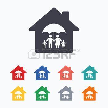 Logo Familia Casa De La Familia Completa Icono De La Muestra De