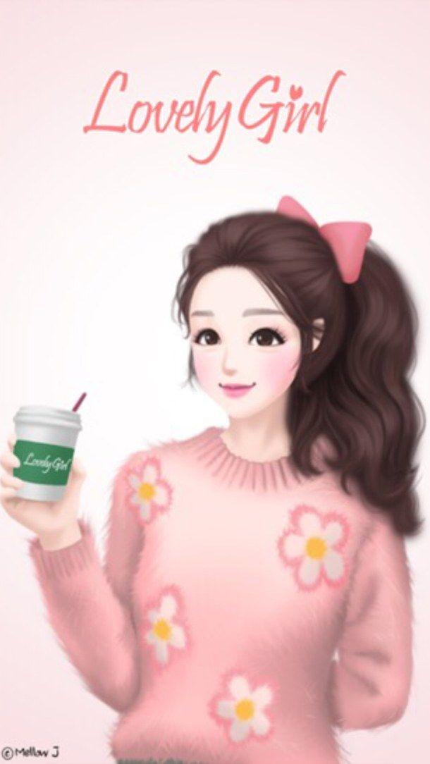 Background Lovely Girl Wallpaper Enakei Wallpapers Iphone