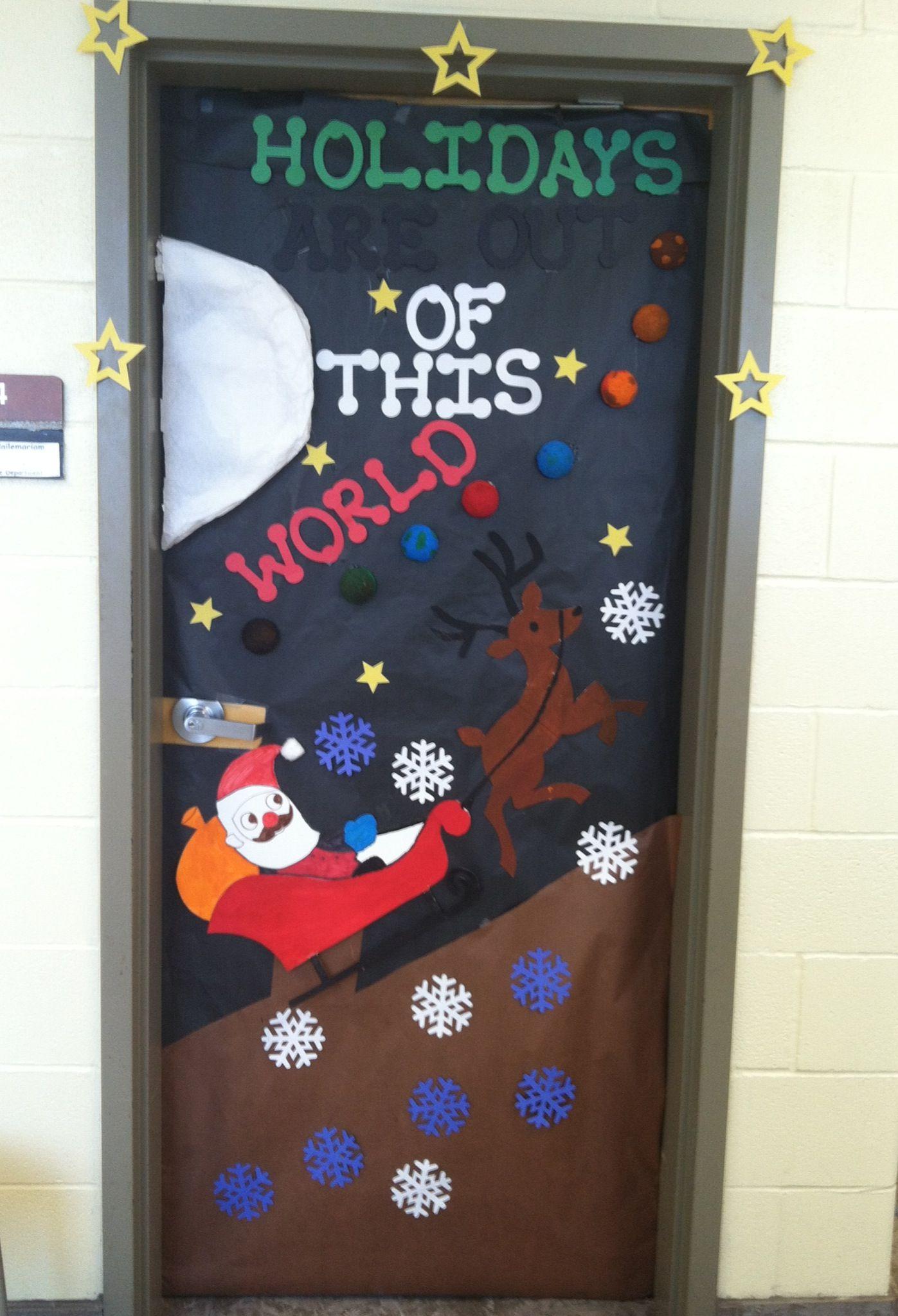 Christmas Science Door Decoration