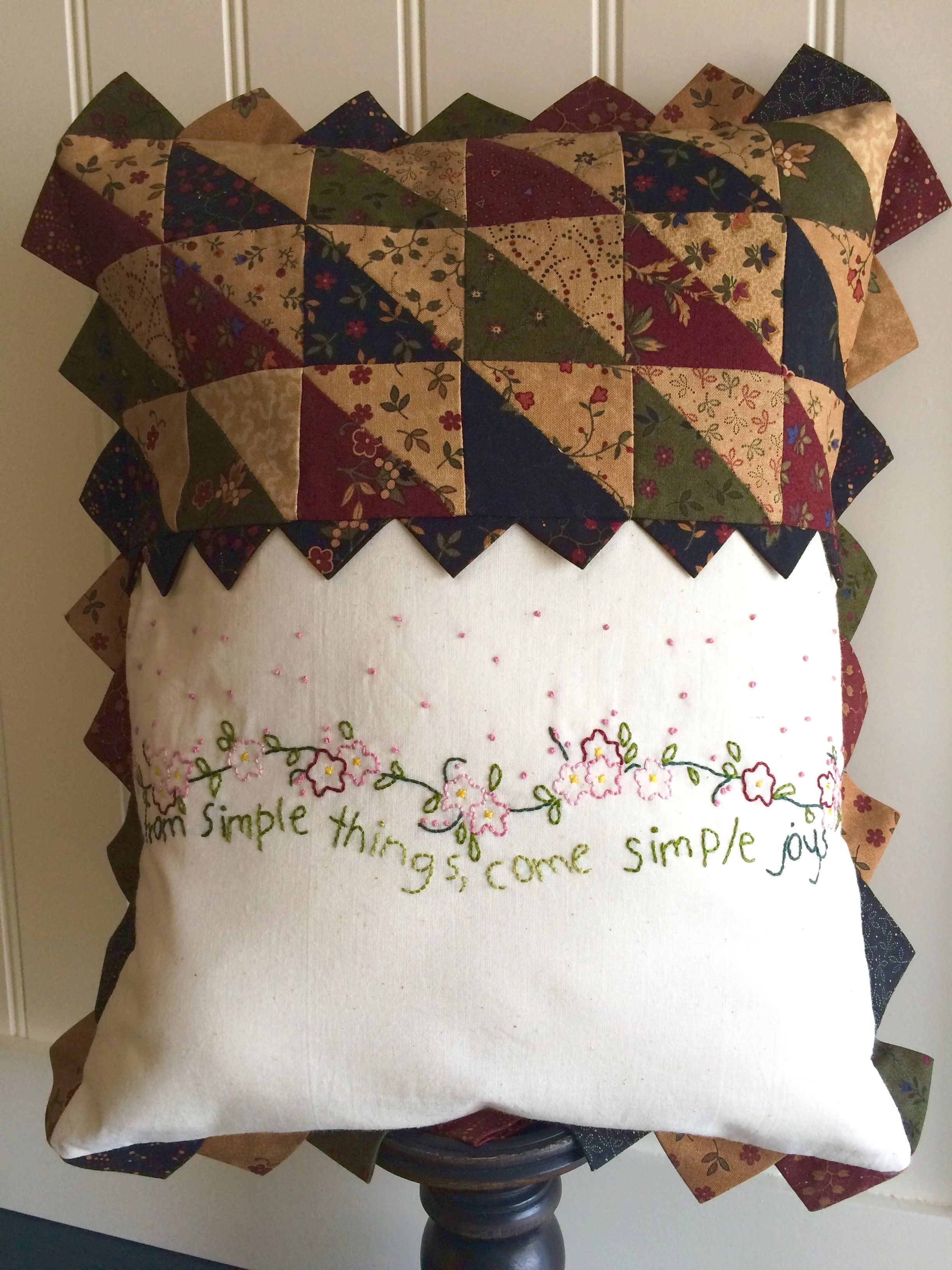 This is a pillow made from a crabapple hill pattern i changed the