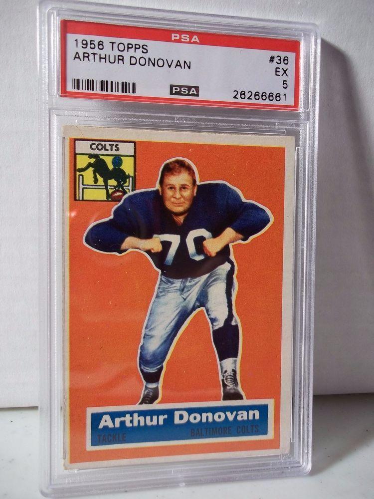 1956 Topps Arthur Donovan PSA EX 5 Football Card 38 NFL
