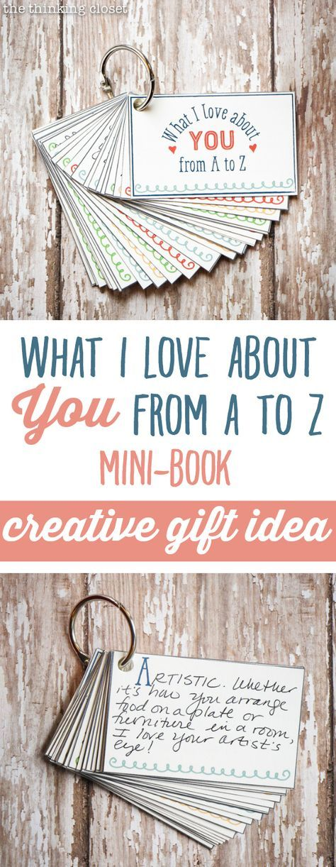 What I Love About You from A to Z Mini-Book Gift - the thinking closet