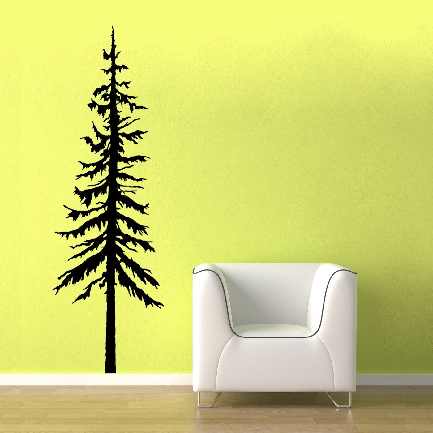 Tree wall decals large personalized family tree decal vinyl wall decal - Giant Family Tree Wall Sticker Vinyl Art Pine Tree Decal Vinyl Wall Graphic Pine Tree