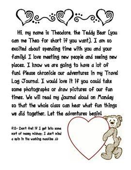 Take Home Stuffed Animal Note Classroom Pets Class Pet Preschool Schedule
