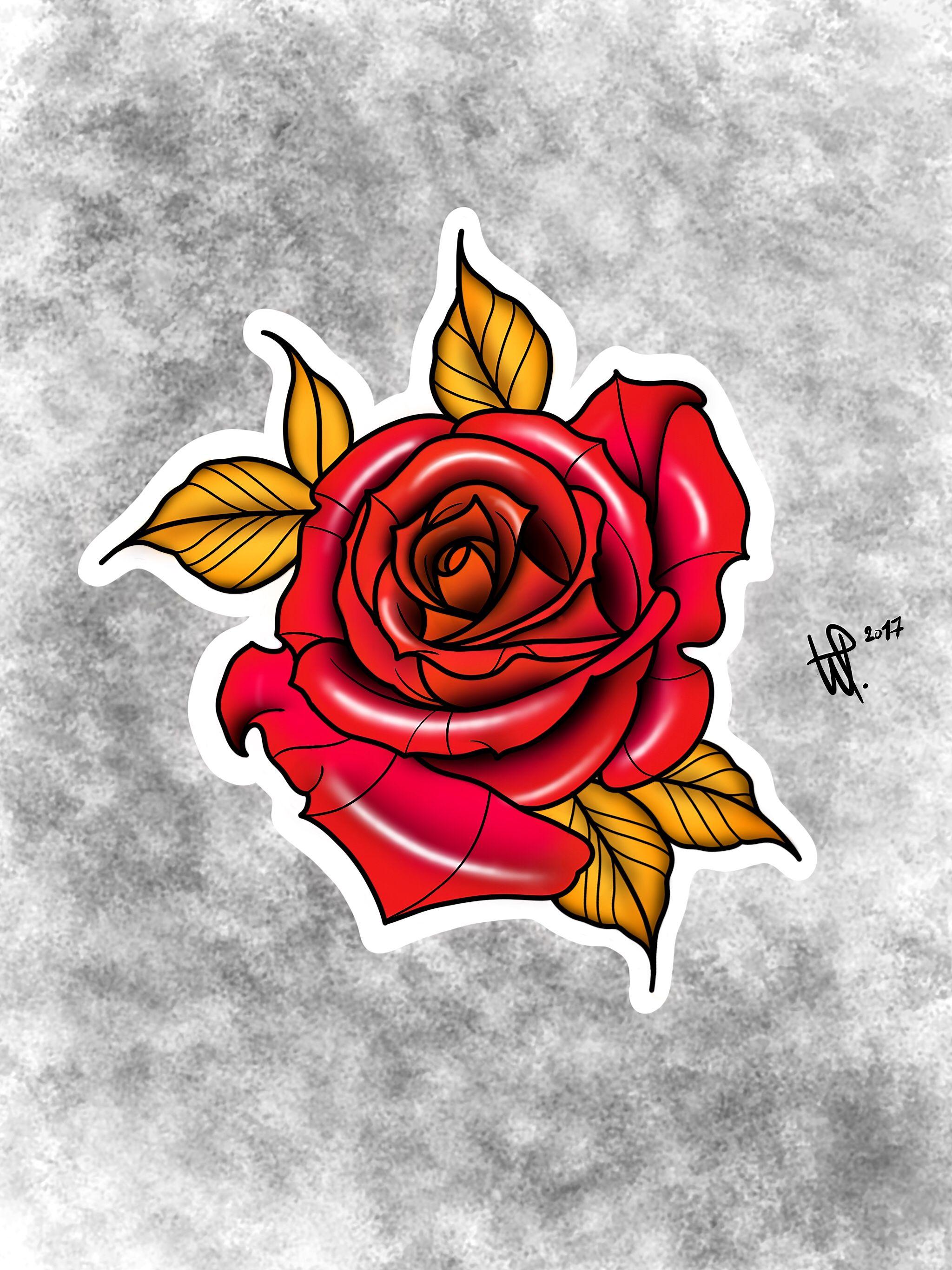 Drawed by PLWY. tattoo tattoos rose rosetattoo