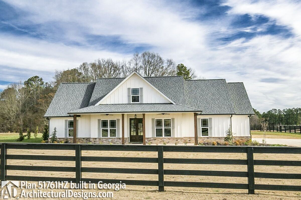 Plan 51761HZ Classic 3 Bed Country Farmhouse Plan