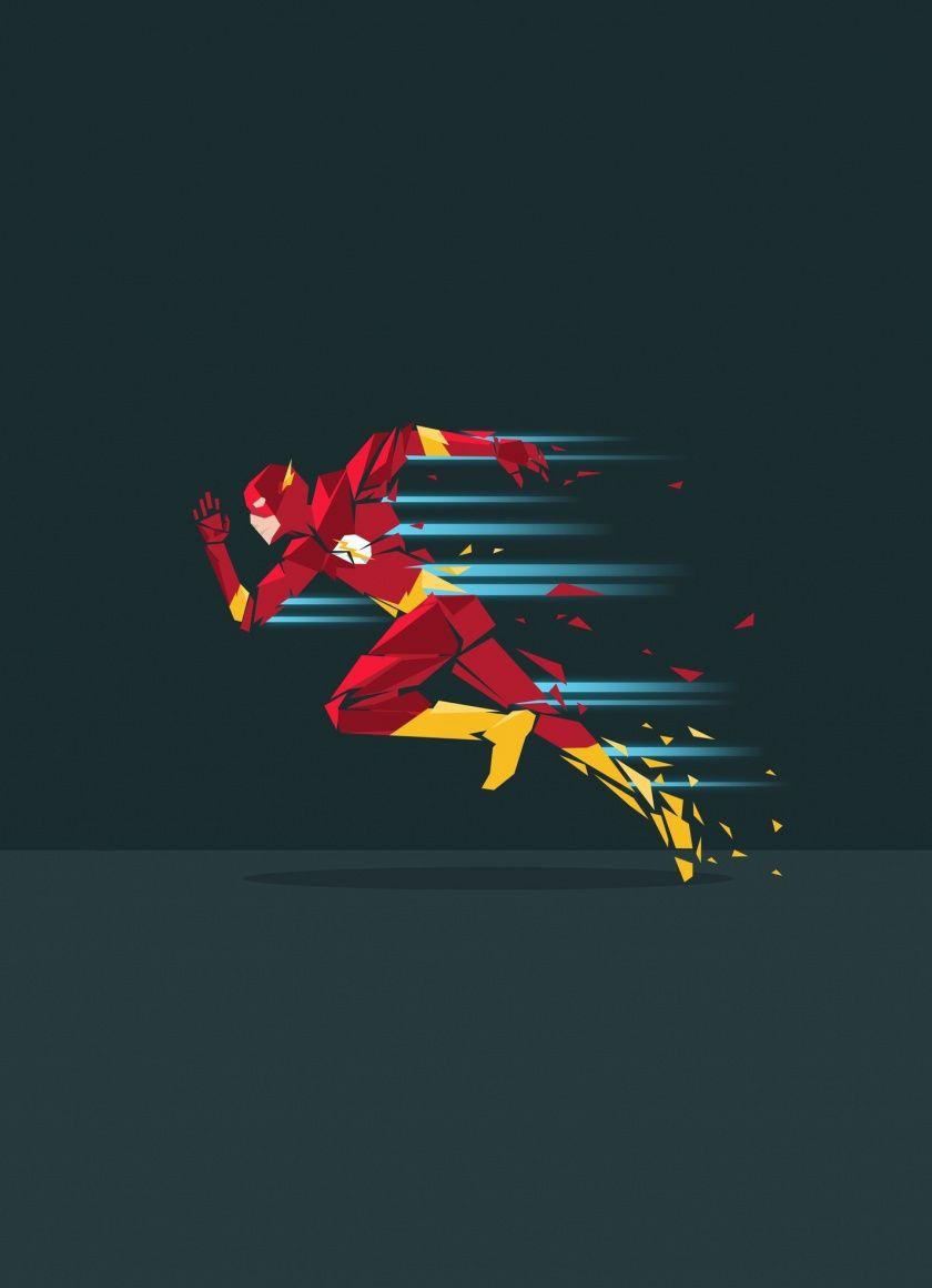 The Flash Run Superhero Minimal Art 840x1160 Wallpaper Con