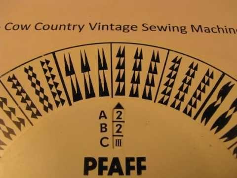 Pfaff 130 Stitch Pattern Wheel 54 Stitches Part 2 Cow