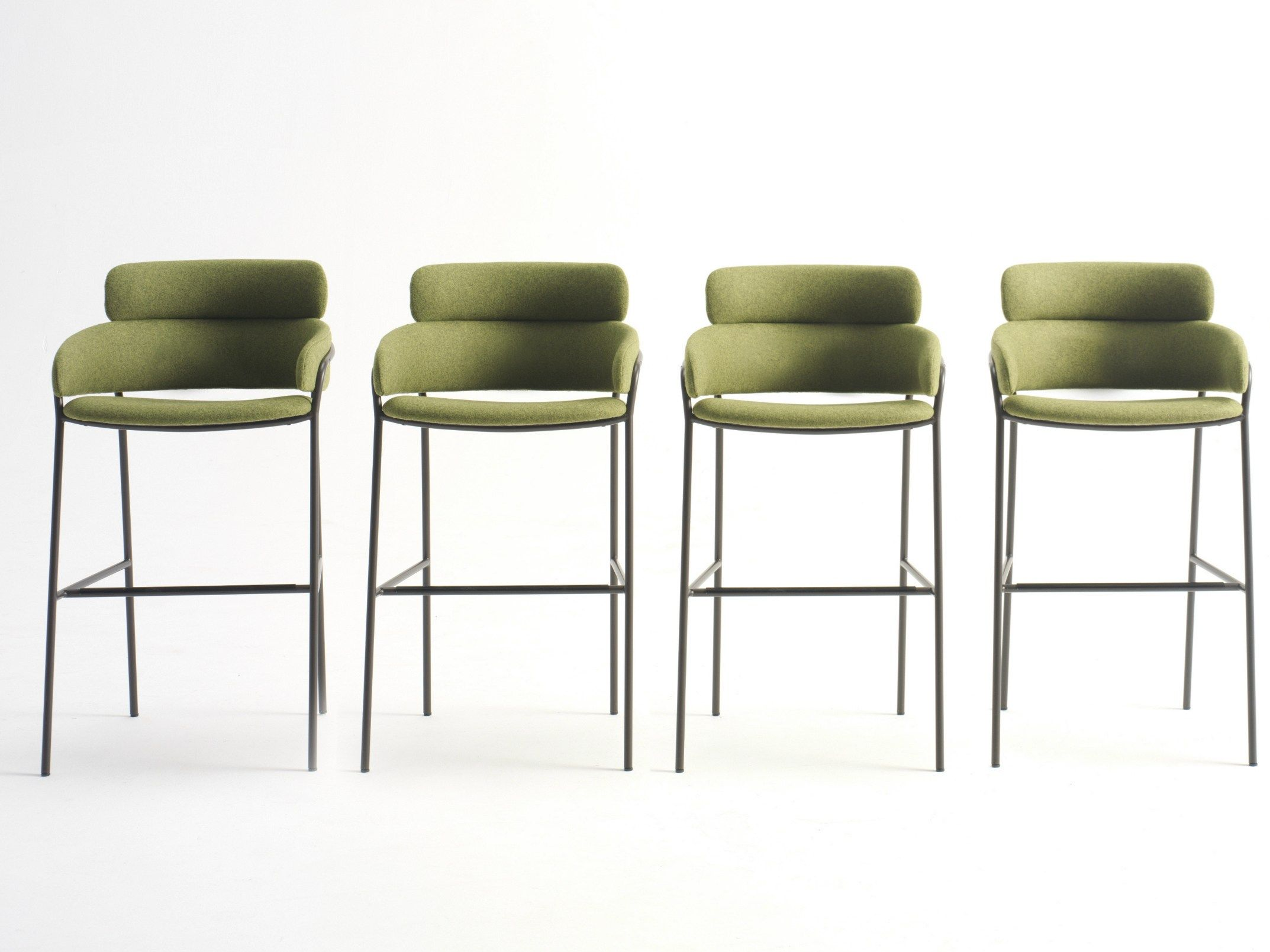 High fabric stool Strike Collection by Debi by Arrmet