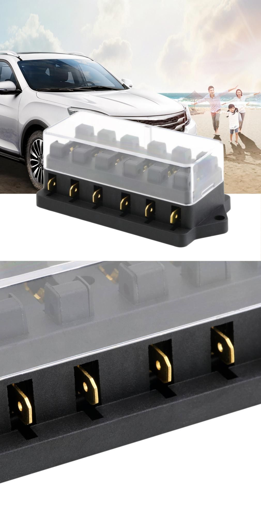 Visit To Buy Universal Middle Sized 12v 6 Way Fuse Box Block Automotive Accessory