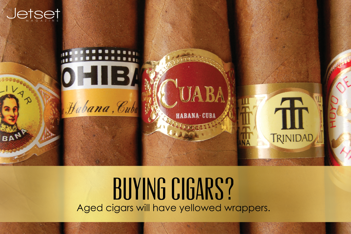 #JetsetMag Tips: Want to tell if a #cigar is properly aged? Check the wrapper.Live the life of #luxury: bit.ly/JetsetMag