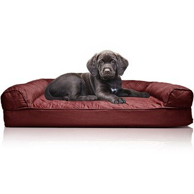 Archie Oscar Bernice Quilted Orthopedic Dog Sofa Colour Wine