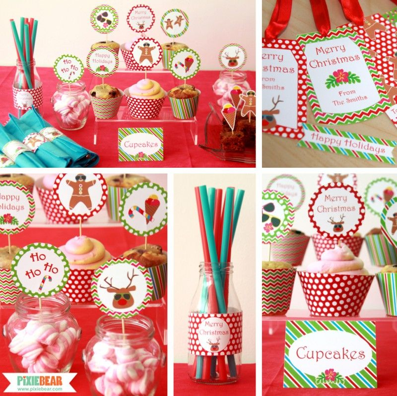 Christmas In July Party Favors.Summer Christmas Party Decoration Ideas By Pixiebear