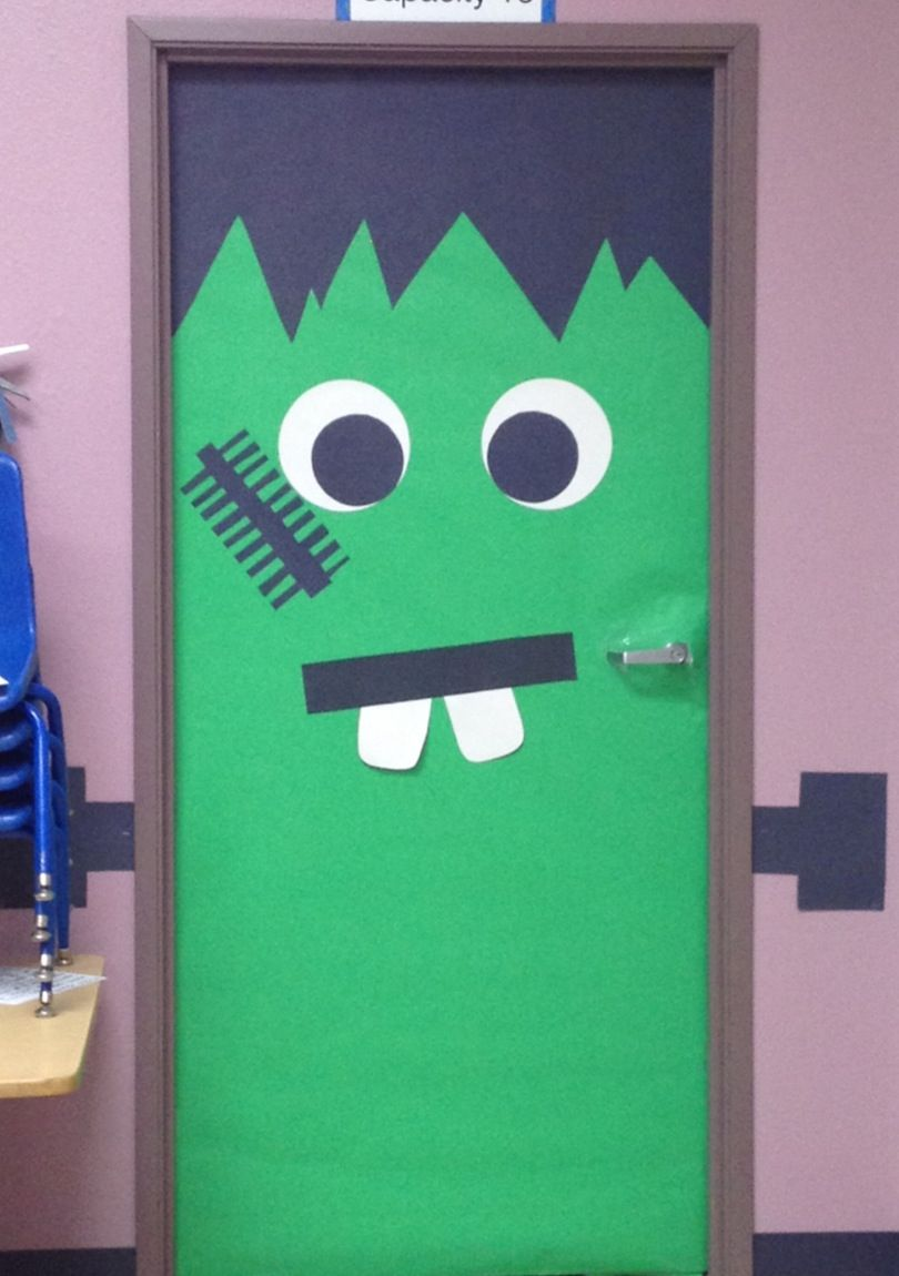 Frankenstein door decoration & Frankenstein door decoration | Things I Made! | Pinterest pezcame.com