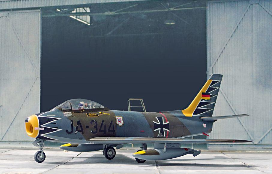 F-86 Sabre Mk.6, JG71 Richthofen, 2.Staffel, 1:48, Revell,  www.flugzeugkunst.eu
