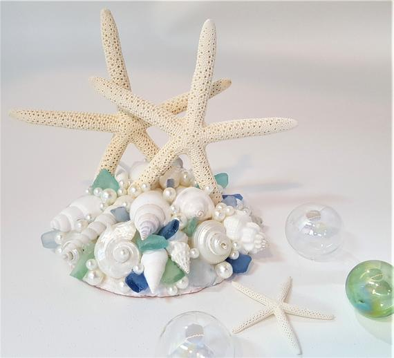 Beach Wedding Cake Topper Nautical Wedding Cake Top