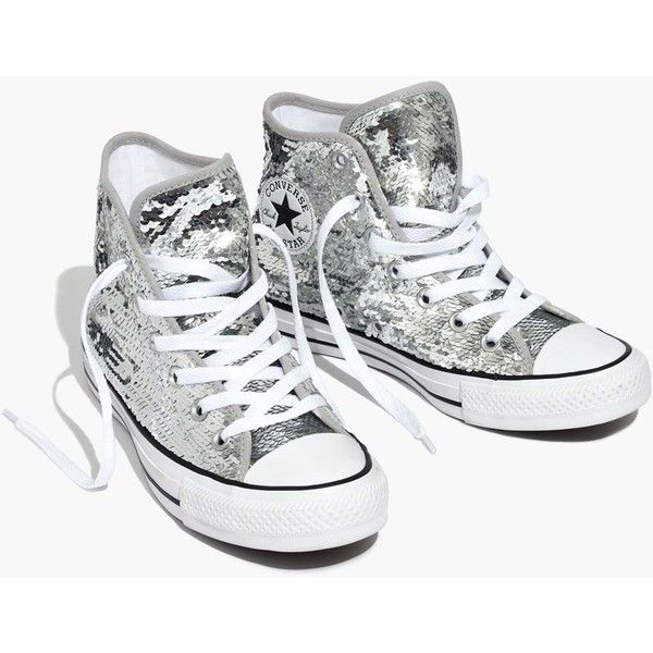 334440a63c19 MADEWELL Converse® Chuck Taylor All Star High-Top Sneakers in Sequins ( 70)  ❤ liked on Polyvore featuring shoes